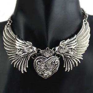 Jewelry - Angel Wing Heart Choker/Necklace